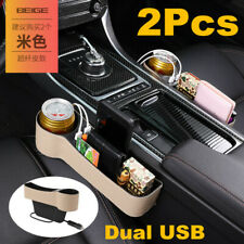 2X Car Seat Storage Box Cup Drink Holder Organizer Gap Pocket Driver&Passenger