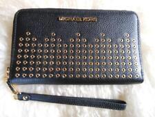 Michael Kors Hayes Black Pebbled Leather Large Flat Phone Case/Wallet/Wristlet