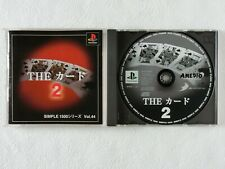 The Card 2 Simple 1500 Series Vol 44 PS1 D3 Sony Playstation From Japan