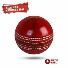 3x Red Match Cricket Balls 4 Piece Leather,156g And 3x Red Match D/&Sons