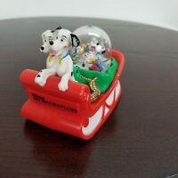 1996 McDonalds Disney 101 Dalmatians Snow Globe Christmas Sleigh