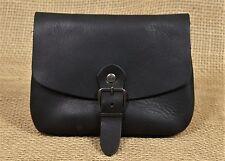 Gürteltasche Klassisch Zeitlos Leder schwarz Nubuk  Mittelalter Gürtel Tasche