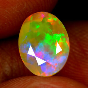 1.40CT EXCELLENT 3D PATCHWORK PATTERN NATURAL SOLID WELO OPAL LOOSE GEMSTONE