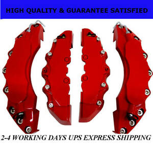Red Extra Thick ABS Brake Caliper Covers Car Disc Kit Front Rear 4PCS L+M