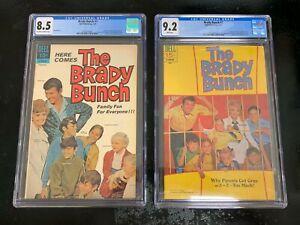 2X 1970 Dell  ~ THE BRADY BUNCH Comic ~ # 1 CGC 8.5 ~  # 2 CGC 9.2 ~ BEAUTIFUL