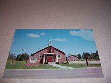1961 St. JOHN LUTHERAN CHURCH PORT SANILAC MICHIGAN VTG POSTCARD