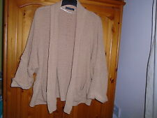 Cosy beige textured cardigan, ¾ length sleeves, ATMOSPHERE, size 12