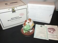 Norman Rockwell Figurine Dear Diary Beautiful Dreamers Lady (Y785)