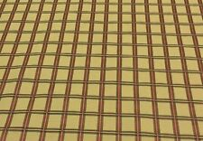 "WAVERLY PLAID GOLD RED RIBBED HEAVY UPHOLSTERY CUSHION FABRIC BY THE YARD 55""W"