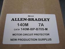 NEW ALLEN-BRADLEY 7 AMP MOTOR CIRCUIT PROTECTOR 140M-I8P-B70S-M BREAKER