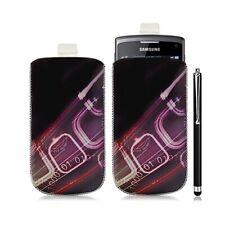 Housse coque étui pochette pour Samsung Wave 3 avec motif HF07 + stylet lux