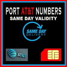 Phone numbers | Numbers to Port | At&T | Fast Service | Same Day Validity! Only!