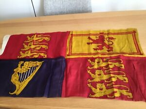 "Vintage  Nautical Signalling Flag royal standard  35"" x 18 """