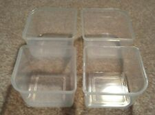 100ml Clear Containers - No Lids - Qty. 4
