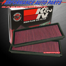 Two K&N 33-2857 Hi-Flow Air Intake Filters for Audi VW Porsche V8 *See Detail*