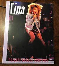 TINA TURNER 1985 PRIVATE DANCER WORLD TOUR CONCERT PROGRAM BOOK Music Legend