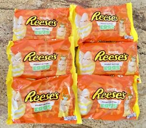 6 Bags Reese's ~ White Peanut Butter Eggs Easter Bags 10.8 Oz. Each 11/21
