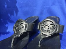 BCBG BcbGirls Clogs Mules Strappy Wedges LEATHER High Heels WOMENS SHOES Sz 6.5