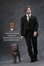 1/6 Mr.Z Keanu Reeves American Staffordshire Terrier Dog Figure New Model Toy