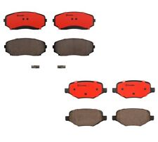Front and Rear Ceramic Brembo Brake Pad Set Kit For Ford Edge Lincoln MKX 13-15