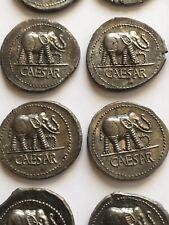 Lots 12 denier JULES CÉSAR  a l'éléphant Sesterce Aureus COPY