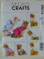 SEW DOG CLOTHES PATTERN M6218 SIZE SMALL TO XLARGE LEG WARMERS COAT SCARF NEW