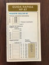 Guida Rapida per / Quick reference card for Hewlett-Packard HP-67 calculator