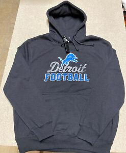 Majestic Detroit Lions Big Logo Pullover Hoodie Jacket Men's Size Large