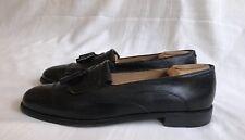 JOHNSTON MURPHY Cellini Men's Black Leather Slip-on Kiltie/Brouge Shoes Sz 11.5N