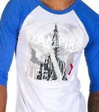 NWT Vampire Life Raglan T Tee Shirt XXL 2XL White Blue Long Sleeves 100% Cotton