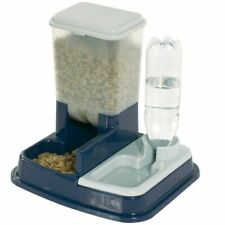 FLAMINGO Futterspender Wasserspender Haustiere Duo Max Blau Futternapf 5344046