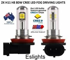 2PCS 80W H11 LED CREE 9-32V  CAR HEADLIGHT FOG LIGHT DAYTIME RUNNING BULB GLOBE