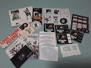 Lot of Various PHILADELPHIA FLYERS Stickers Window Clings Autos and Schedules