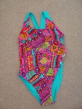 """Zoggs Pink Turquoise 30"""" Chest Multi Style Swimming Costume NEW (ref L)"""