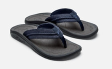 3540dd834717 Olukai Hokua Mesh Night Charcoal Comfort Flip Flop Men s sizes 7-15 NIB!