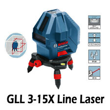 Bosch GLL 3-15X Professional 3 Line Laser Level Self-Leveling GLL3-15 50Ft IP54
