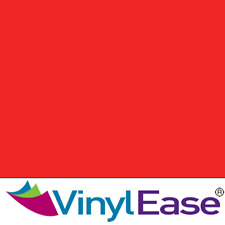 One 12 in x 40 ft Roll Glossy Tomato Red Permanent Craft and Sign Vinyl V0442