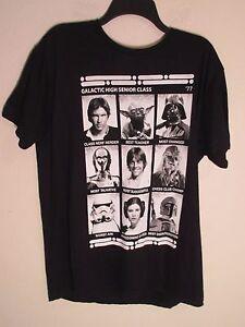 Star Wars T Shirt Short Sleeve MEN Large Black Authentic NEW