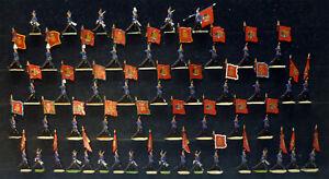 52 Zinnfiguren Württemberg um 1900 Standarten der Infanterie 30mm bemalt