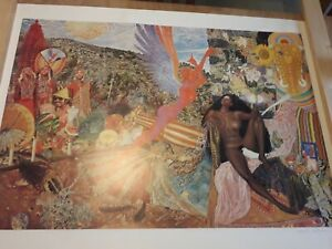 Santana Kunstbild Abraxas von Mati Klarwein mit Orig. Signatur