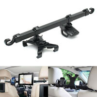 360° Car Seat Headrest Phone Holder 360° Rotating Dual Mount For iPad Tablet Kit
