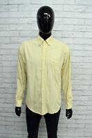 Camicia CARRERA Uomo Taglia Size XL Maglia Chemise Top Shirt Man Regular Beige