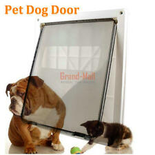 "ABS 14 x 11"" Big Pet Saft Cat Dog Lockable Door Gate Flap Door White -Large USA"
