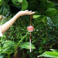 Japanese Style Glass Furin Wind Chime Bell Garden Door Hanging Ornament Decors