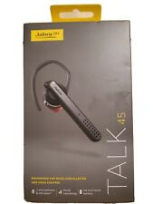 Jabra Talk 45 Bluetooth Headset Noise Cancelling & Voice Control Ote18 6 hour