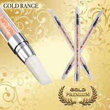 Cabeza de silicona Cepillos para Arte de Uñas Talla herramienta polaco Pen Conjunto de 3