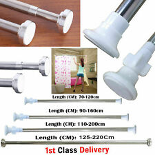 Extendable Telescopic Shower Curtain Rail Pole Bathroom Door Window Wardrobe Rod