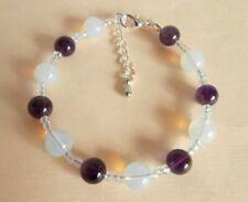 Gemstone Crystal Healing Insomnia Sleep Disorders Bracelet Gift Bag