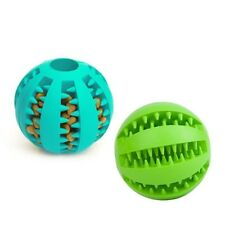 2 Dog Puzzle Chew Toy Tough Treat Ball Pet Food Play Interactive Mental Playing