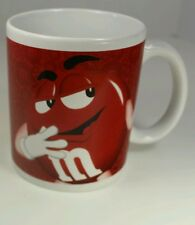 M & M's Mars Candy Coffee Cup / Mug with Yellow and Red M & M Characters